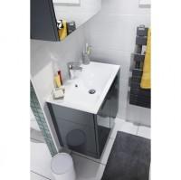 Plan INFINY résine blanc (15+80+15) 1 vasque centrée largeur 110cm