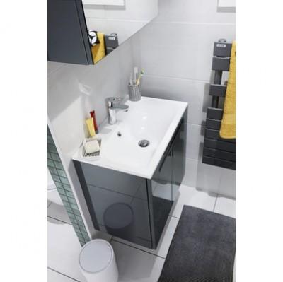 Plan GP INFINY résine blanc 1 vasque largeur 80cm