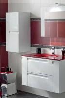 Élément sous vasque INFINY blanc pur 2 portes largeur 60cm