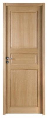 Bloc-porte chêne intemporel CLASSIQUE huisserie 72mm 204x73cm droite