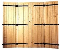 Grille pour porte de service/porte de garage LOUVECIENNES largeur 80cm
