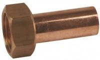 Douille droite cuivre avec écrou 20x27mm diamètre 16mm