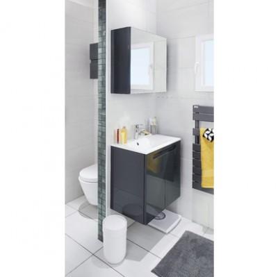 Plan INFINY résine blanc vasque gauche (80+40) plan DTE largeur 120cm