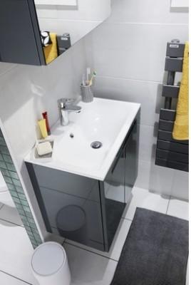 Plan Gain de place INFINY résine blanc 1 vasque largeur 60cm