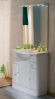 Meuble sous vasque 3 porte + 2 tiroirs initial longueur 86cm