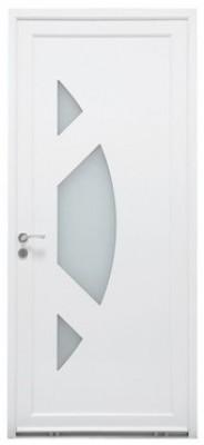 Porte d'entrée PVC 215 x 90cm droite - Modèle ETEL