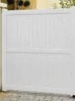 Portail RAVENNE coulissant blanc sans accessoire 180x400cm droite