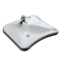 Lavabo MATURA 2 67x60cm sans trop plein blanc PORCHER