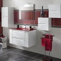 Meuble sous-vasque INFINY blanc pur 2 tiroirs largeur 80cm