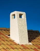 Sortie de toit PROVENCE 230mm crépie ocre POUJOULAT
