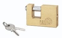 Cadenas LAND laiton poli anse acier 70mm 2 clés BREZINS