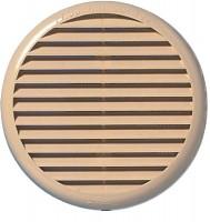 Grille à clipser ronde avec moustiquaire diamètre 80mm à 125mm sable BREZINS