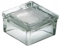 Pavé de sol verre strié 15x15x8cm LA ROCHERE - VERRERIE