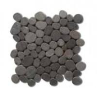 Galets sur trame scies BORNEO pierre de lave mat 30x30cm