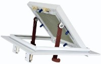 Trappe visite cadre alu blanc plaque hydro poussez/lachez 400x400mm PAI