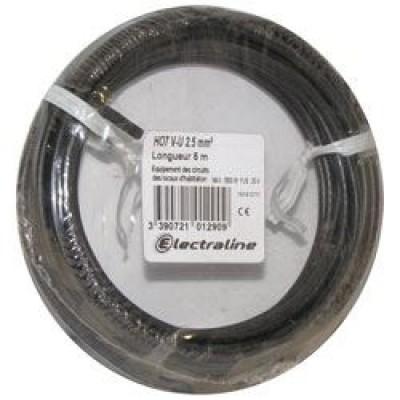 Câble H07VU 1x2.5 25m noir
