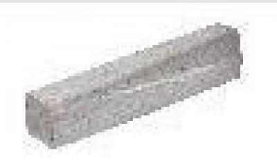 Bordure béton T2 biaise gauche grise 1m MIALANES