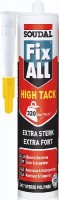 Mastic colle FIX ALL HIGH TACK blanc 290ml polymère hybride SMX SOUDAL