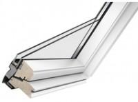 Fenêtre à rotation finition Whitefinish version confort nouvelle génération, 134x140cm finition bois peint