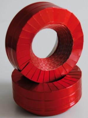 Manchette aluminium rouge 40mm 10m KAIMANN