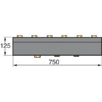 Collecteur isolé pour 3 modules hydraulique EA 60 DE DIETRICH