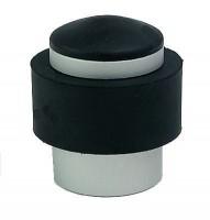 Butoir aluminium garni caoutchouc diamètre 38mm noir argent BOSCHAT