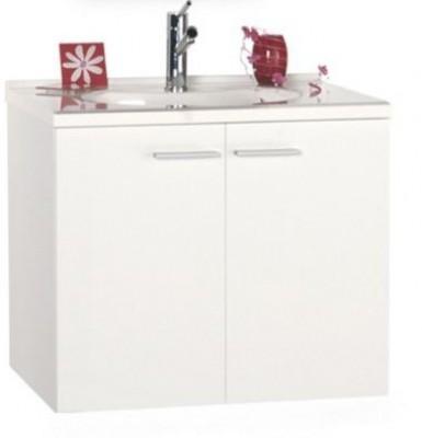 Meuble sous vasque milano 2 portes largeur 70cm blanc 2f tartrou mondeville 14120 - Meuble vasque 70 cm de large ...