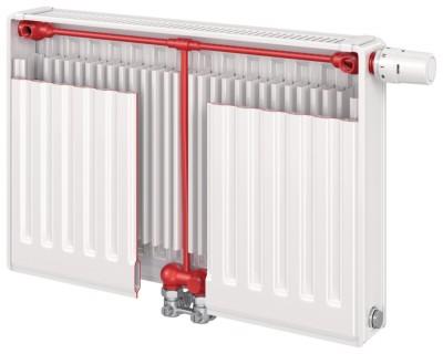 Radiateur eau chaude T6 plan 22 hauteur 600mm longueur 1200mm 2003W FINIMETAL