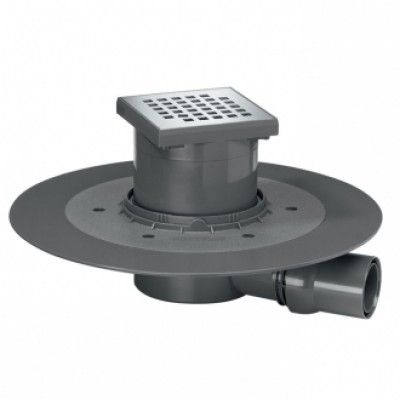 Siphon douche VENISIO F40/50 horizontale avec grille WIRQUIN