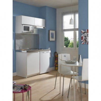 meuble kitchenette boreale ou cadette m lamin 2 portes 150cm blanc moderna rennes 35920. Black Bedroom Furniture Sets. Home Design Ideas
