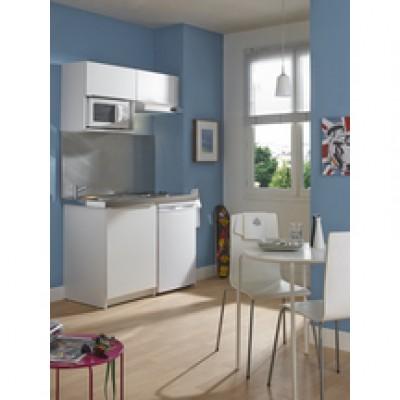 Meuble kitchenette boreale ou cadette m lamin 2 portes for Meuble stratifie ou melamine