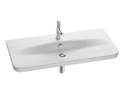 plan vasque autoportant 1 trou perc trop plein jacob delafon la roche sur yon 85000. Black Bedroom Furniture Sets. Home Design Ideas