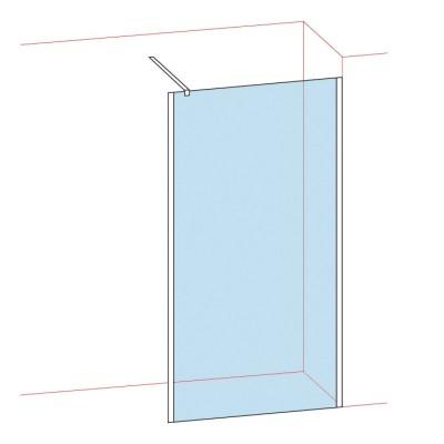 Paroi de douche Verre Acidé largeur 77/79 BASIC SEGMENT