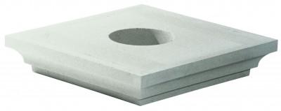 Chapiteau pour pilier 40x40cm blanc cassé WESER