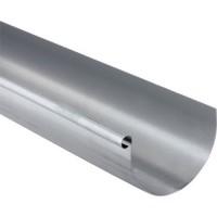 Gouttière demi-ronde sans pince zinc 0.65mm 2000mm developpé 166mm