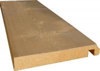 Planche de rive sapin rabote 21x195x5100mm gorge ronde avec rainuré