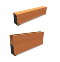 Caisson monobloc 20x41,2cm avec sous-face pvc 1,2m WIENERBERGER