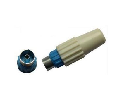 Fiche coaxiale femelle diamètre 9,5mm bleue SIGMADIS