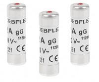 Sachet de 3 fusibles 10.3x31.5mm 25A 380V NF DEBFLEX