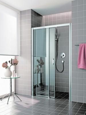 porte de douche coulissante atea d2r 16020 vpr argent verre clair rothalux saint gr goire. Black Bedroom Furniture Sets. Home Design Ideas