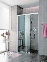 Porte de douche coulissante ATEA D2R 16020 VPR argent / verre clair ROTHALUX
