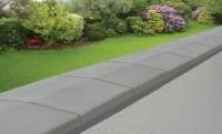 Chaperon coulé lisse 2 pentes 28x50cm gris WASER