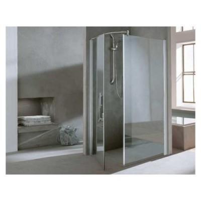 Porte de douche pliante 2 volets lunes s 90cm silver for Porte douche novellini