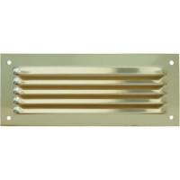 Grille métal réglable 190x75mm laiton sans moustiquaire CD DMO