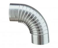 Coude 90° diamètre 139mm plissé aluminié POUJOULAT