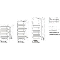 Sèche-serviettes mixte CONCERTO Asymétrique 1754x550 blanc 1890