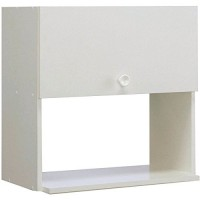 Meuble haut bois niche 1 porte longueur 600mm blanc MODERNA