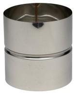 Manchette inox condensation mâle-mâle diamètre 153mm TEN