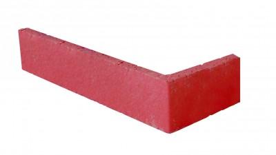 Plaquette équerre tableau 25x22x1,4x5cm rouge TERREAL