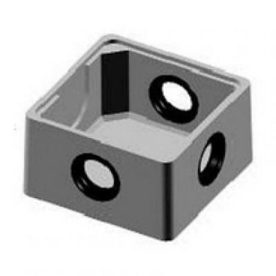 Fond de boîte de bouclage PE à joints +couvercle béton BONNA SABLA